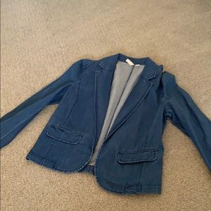 Frenchi denim blazer size M new